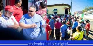 Schafik Jr también realizó una concentración el domingo, esperando opacar a Walter con la cantidad de ciudadanos que le llegaron a el