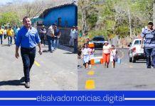 Gobierno entrega en Punta Chiquirín La Unión, una nueva calle; con señalización e iluminación de última generación para los habitantes de la zona