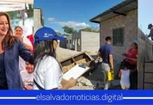 Ministra de Vivienda sigue dando tranquilidad a las familias salvadoreñas, finalizando la construcción de 29 viviendas en comunidad El progreso lll