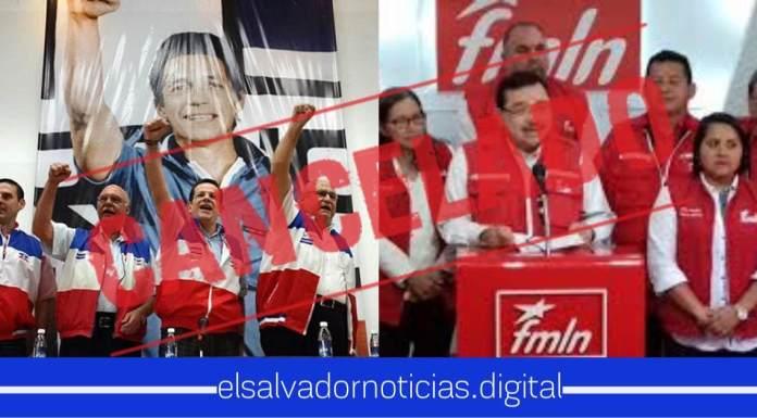 Solicitan la cancelación de los partidos ARENA y FMLN por ser negociadores de pandillas