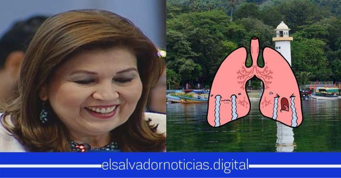 Diputada de ARENA, fue víctima de burlas en redes sociales, al calificar el Lago de Ilopango como