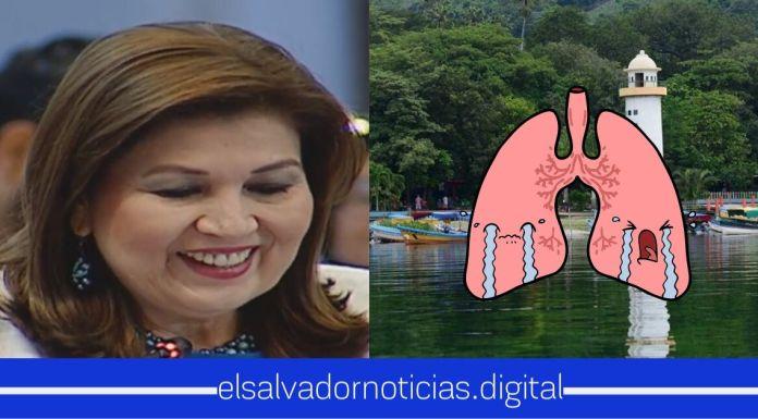 """Diputada de ARENA, fue víctima de burlas en redes sociales, al calificar el Lago de Ilopango como """"pulmón acuático"""""""