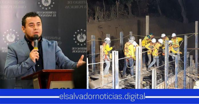 Ministro Romeo Rodríguez junto a su equipo de trabajo trabajan día y noche en la construcción del Periférico Gerardo Barrios