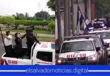 Miembros de la PNC salen a elevar oraciones para todos los Salvadoreños ante la crisis de COVID-19