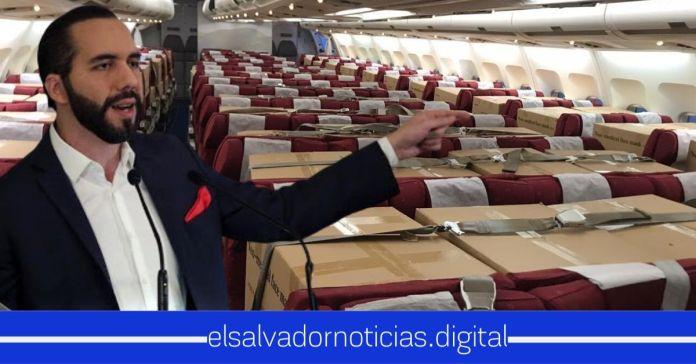 Gobierno trae a El Salvador MEGA cargamento de insumos médicos, sin haber recibido UN SOLO CENTAVO en préstamos