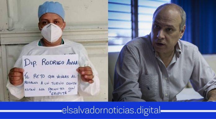 """Doctor invita a Rodrigo Ávila a visitar el Hospital Rosales para saber si solo es una """"gripita"""" nada más"""