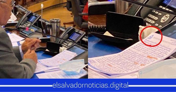 El Chato Vargas lee documento de la ANEP atacando el Hospital El Salvador