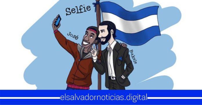 Desde África, joven se dibuja junto al Presidente Bukele en donde desea conocerlo y tomarse una selfie con el