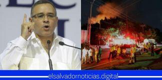 Mauricio Funes señala que Nayib Bukele provocó incendio en exfábrica de baterías para usarla como «cortina de humo»