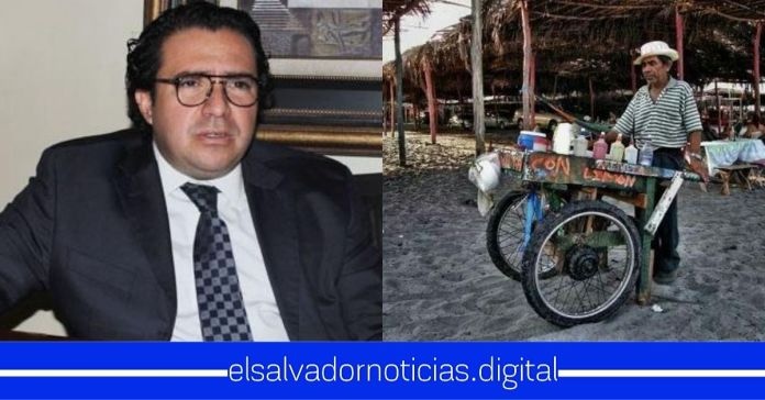 Apoderado legal de EDH se burla de salvadoreños humildes que venden minutas en la playa