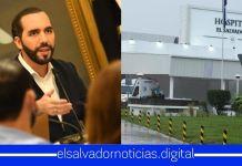 Presidente Bukele afirma que Fase 2 de Hospital El Salvador se inauguró el miércoles 5 de agosto atendiendo a los salvadoreños