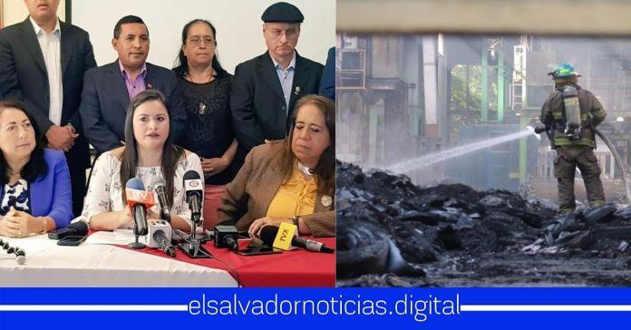 FMLN hurtó 25 millones de dólares para remover escoria con plomo en ex fabrica de baterias y ahora exigen al Gobierno rendir informe que fue lo que provocó el incendio