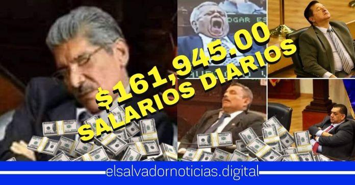 Salvadoreños gastan $161,945.00 diarios para mantener a los webones de los diputados en la Asamblea Legislativa