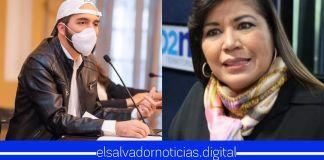 Ex viceministra del FMLN exige a Bukele que deje de capturar a evasores de impuestos, ya que solo genera desempleo y daña la imagen del país
