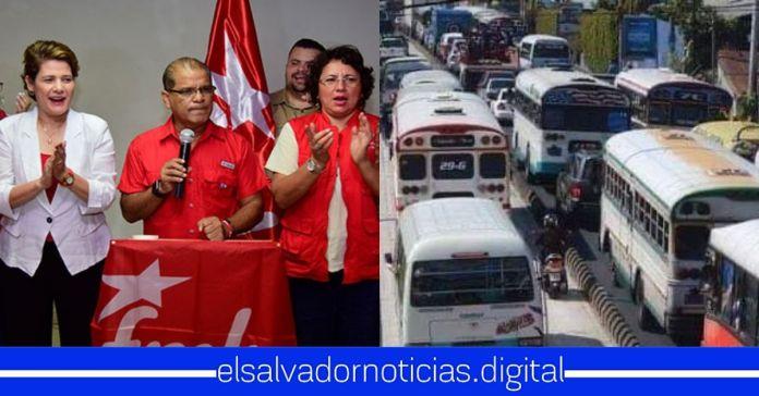 FMLN junto a algunos empresarios del transporte preparan paro nacional de labores