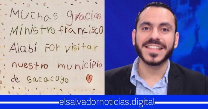 Niños de Sacacoyo agradecen al Mejor Ministro de Salud por llegar a su municipio y cuidarlos de la pandemia