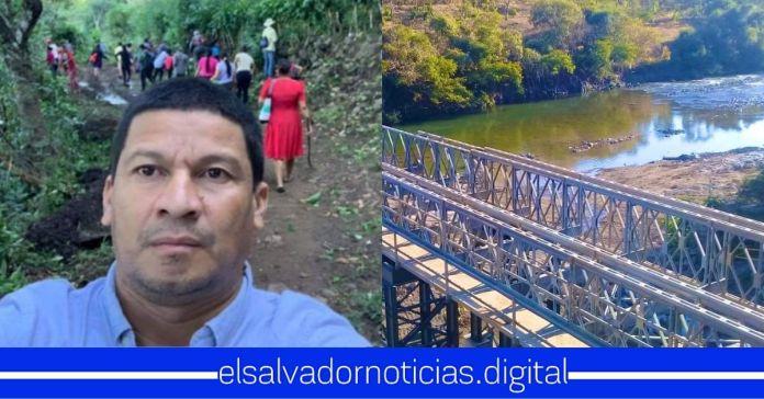 Alcalde de ARENA en San Isidro desmiente a El Faro sobre supuesta reparación del puente, el cual se encuentra en perfecto estado