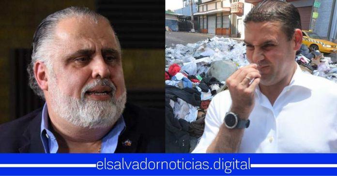 Erick Salguero justifica incapacidad de Neto Muyshondt quien mantiene toneladas de basura en todas las calles de San Salvador