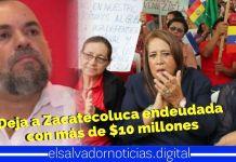 Alcalde del FMLN deja con millonaria deuda a Zacateculoca a pocos meses de las elecciones