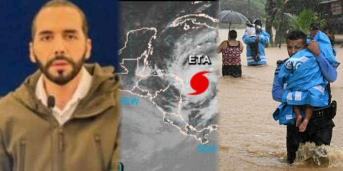 Presidente Bukele afirma que El Salvador brindará toda la ayuda que este al alcance para los países hermanos de Nicaragua, Honduras y Guatemala tras el paso de ETA