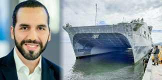 Llega a El Salvador buque desde Estados Unidos de alta velocidad que combate el narcotráfico en la región