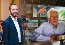 Dulce anciano pintor agradece a Nayib Bukele por colecta para su marcapasos, gracias a la iniciativa de Geovany Galea y Félix Ulloa