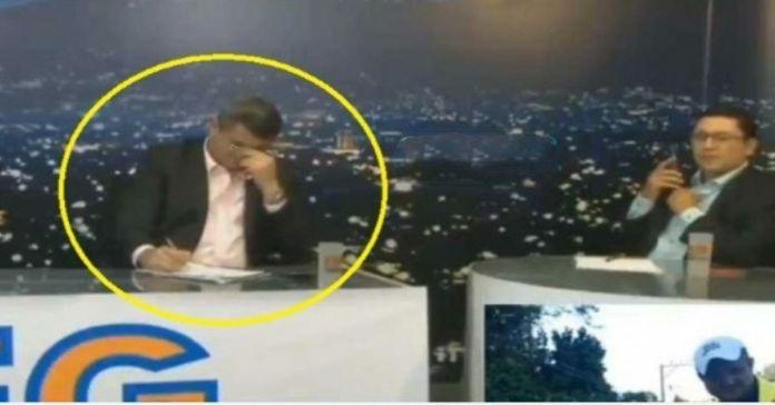 Emilio Corea llora al decir que se siente preocupado por los resultados de las encuestas