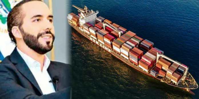 Nuevo buque cargado de alimentos llega a El Salvador, para garantizar la entrega de 70,000 paquetes diarios a cada familia