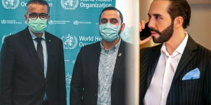 Ministro Alabi se reunió con el Director General de la OMS y felicita al Gobierno de Bukele por el excelente manejo de la pandemia