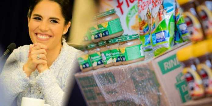 Primera Dama, Gabriela de Bukele recibe importante donativo de Nestlé para promover más de 100,000 porciones de alimentos a familias salvadoreñas