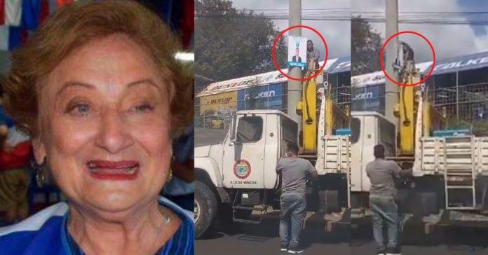 Milena de Escalón ordena quitar propaganda de Nuevas Ideas en toda Santa Ana