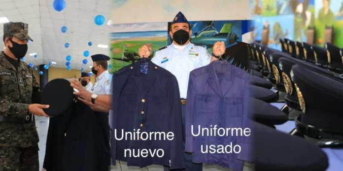 Gobierno dignifica con nuevos uniformes a integrantes de la banda de música de la Fuerza Aérea, quienes por años utilizaron sus los trajes deteriorados