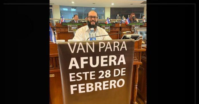 Diputado Gustavo Escalante deja claro a sus colegas en medio de la Plenaria que el 28 de febrero van para afuera