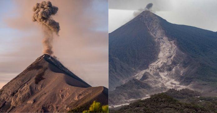Volcán de Fuego en Guatemala ha entrado en erupción masiva