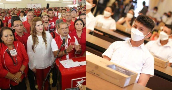 FMLN afirma que computadoras entregadas a estudiantes son gracias a ellos y NO a Nayib Bukele