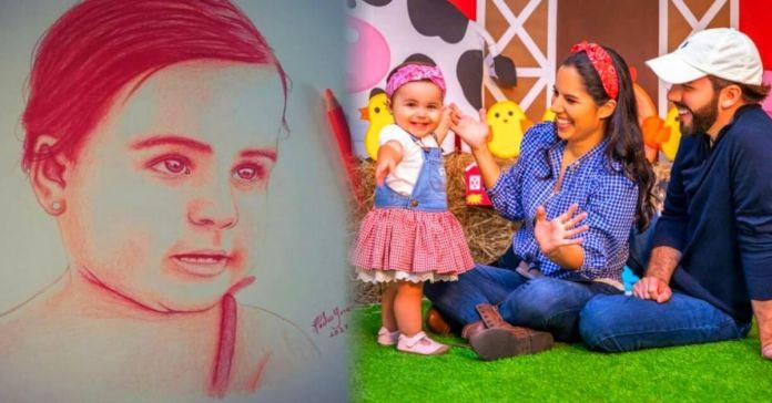 Con mucho cariño, salvadoreño realiza bello cuadro de la pequeña Layla Bukele