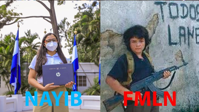 El FMLN en lugar de acercar la educación, puso armas en las manos de los niños, En la década de los 80 el FMLN participó en la guerra civil