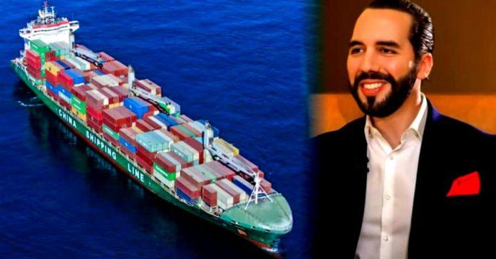 El Salvador recibe nuevo buque cargado de alimentos para abastecer a más familias con paquetes solidarios