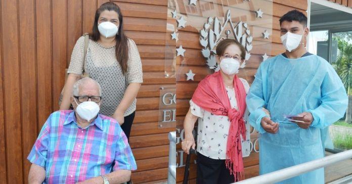 Salvadoreños agradecen al Presidente Bukele por priorizar la vida y salud de sus abuelitos y papás para recibir la vacuna contra la COVID-19