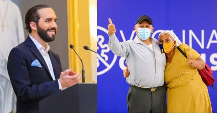 Presidente Bukele informa que un total de 49,441 salvadoreños fueron inmunizados ayer contra la COVID-19