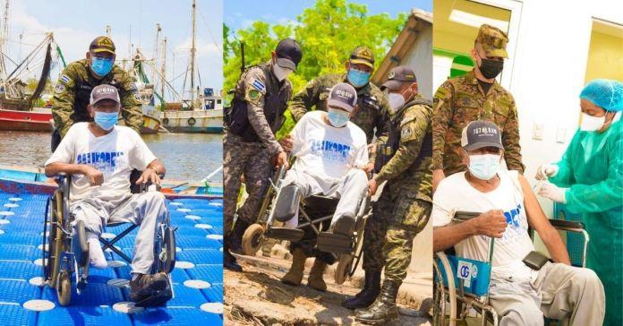 Fuerza Armada asiste a personas de la tercera edad para que puedan recibir de manera voluntaria y gratuita la vacuna contra la COVID-19