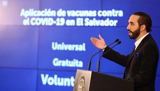 Presidente Bukele informa a la población de 55 años que ya pueden agendar su cita para recibir la vacuna contra el COVID-19