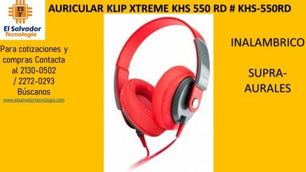 AURICULAR KLIP XTREME KHS 550 RD # KHS-550RD