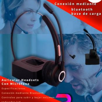 Auricular Headsets Tipo Diadema Premier Con Micrófono Conexión via Bluetooth