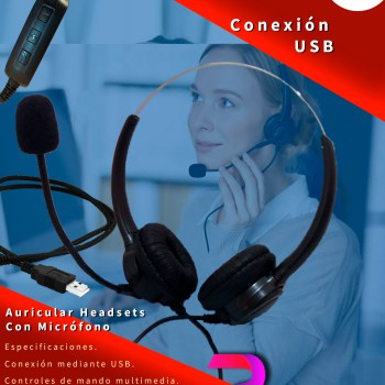 Headset Auricular con Microfono USB Premier TalkMe Plus -1