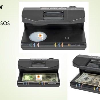 Detectora de Billetes Falsos con Lampara