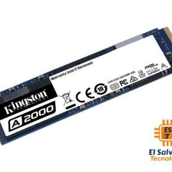 Unidad de Estado Solido M.2 NVMe Kingston A2000 - cifrado - 240GB - SA2000M8/250G