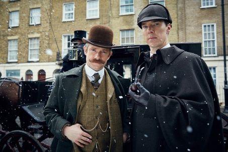 Picture Shows: MARTIN FREEMAN as John Watson and BENEDICT CUMBERBATCH as Sherlock Holmes