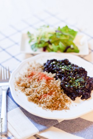 Stewed Black Beans with Red Palm Oil