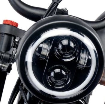 lampa fram X1000W Elcykel Ghostbuster 750W